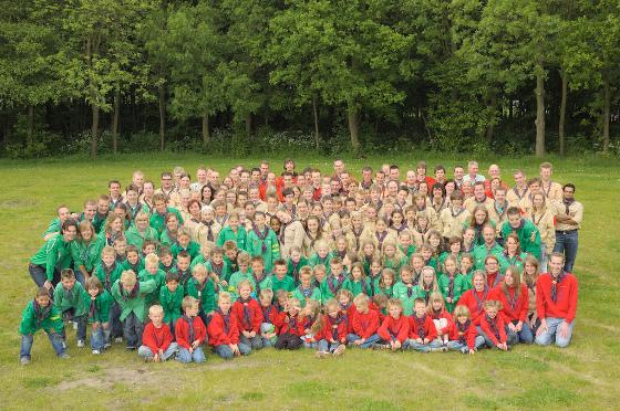 Groepsfoto Scouting Naaldwijk